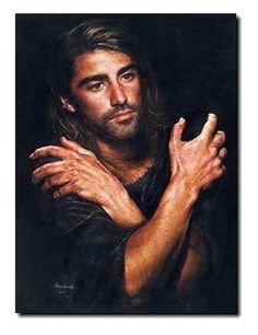 """""""I Am"""" by 17-year-old Akiane Kramarik captures a moment in time when a 20-something Jesus is absorbing all that lies ahead of Him in the next decade or so.  It represents Jesus before His baptism by John and prior to beginning His ministry."""