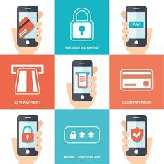 design de pagamento de telefone móvel Vetor grátis