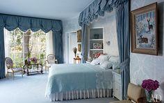 Elizabeth Taylor's bedroom.  She painted the deer painting as a teenager.