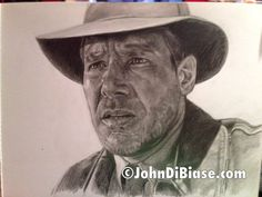 Original Drawing (Not a print) of Harrison Ford as Indiana Jones