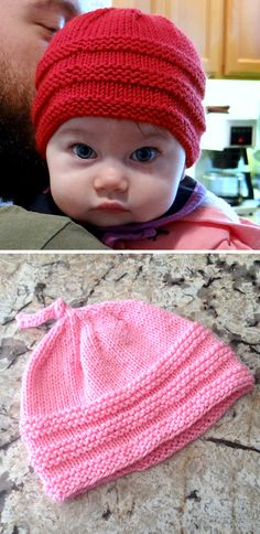 Baby Beanie - Free Pattern - Knitting is as easy as 3 The knitting . Baby Beanie – Free Pattern – Knitting is as easy as 3 Knitting boils down to three Baby Knitting Patterns, Baby Hats Knitting, Knitting Stitches, Baby Patterns, Free Knitting, Beginner Knitting, Beanie Babies, Knitted Baby Beanies, Knitted Hats