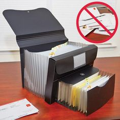 PORTABLE DUAL FILE ORGANIZER | Taylor Gifts