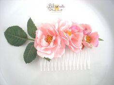 Silk Roses Hair Comb by BiboonetteWedding on Etsy, £17.50