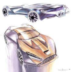 Daily Sketch: Aston Martin studies by Ondrej Jirec gallery: Check Ondrej Jirec's work: https://www.behance.net/ondrej-jirec