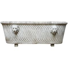 Marble Bath with Neoclassical Design | From a unique collection of antique and modern garden ornaments at https://www.1stdibs.com/furniture/building-garden/garden-ornaments/