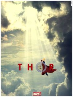 Thor (2011) poster by Matthew Ferguson (Cakes and Comics).