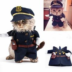 U Choicetore Funny Pet Policeman Costumes Cosplay Dog and Cat Suits With Dog Police Hat Small Dog Puppy Party Uniform Suit Jacket Clothes *** Check out the image by visiting the link. (This is an Amazon affiliate link)