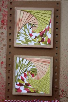 cute squares..great embellishments for scrapbook page...in different colors would be more masculine
