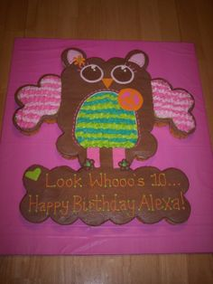 Hippie Chick Owl - Pull apart cupcake cake