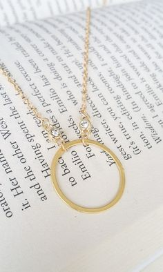 CZ Open Circle Eternity Necklace ~ #silvanasagan #jewelry #necklace #cz #boho #minimalist #streetstyle #fashion #accessories #trending