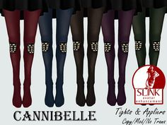 ~Cannibelle~ Leather and Studs Tights with SLink Appliers