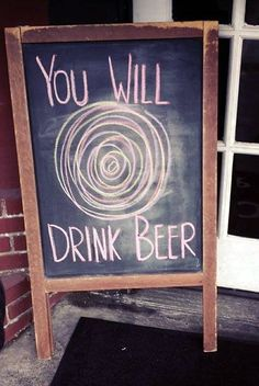 Good sign idea for when you serve a hypnotic drink...