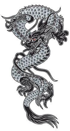 Dragon canvas picture - stretcher picture - various sizes - Leinwandbilder & Poster - Foot Tattoos, Body Art Tattoos, Sleeve Tattoos, Temporary Tattoos, Japan Tattoo, Estilo Tribal, Gatomon, Dragon Illustration, Japanese Dragon Tattoos
