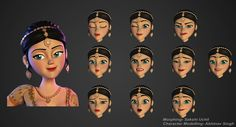 indian bride morphing expressions 3d character girl woman face 3d character design behance heroine female women faces emotion morphs animation 3d character models female characters sakshi uchil