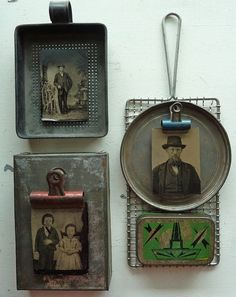 Thinking about using really old kitchen tools as frames for old photos in my…