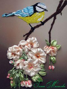 Gallery.ru / Птичка - невеличка. - Вышиваю с любовью - mihailova-galya, ribbon embroidery