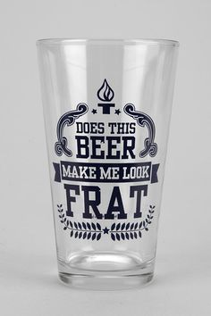 Frat Pint Glass  #UrbanOutfitters