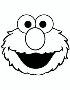cookie monster cut out template - Google Search | Birthday ...