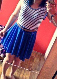 Kup mój przedmiot na #vintedpl http://www.vinted.pl/damska-odziez/krotkie-sukienki/12660931-sukienka-krutka-mini-w-paski-z-tiulem-lekka-uniwersalna-z-kokardka-s-m