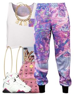 """july 4 2k14"" by xo-beauty ❤ liked on Polyvore featuring Vans, MCM, Roberto Piqueras, Social Anarchy and H&M"