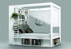Himmelbett Doppelbett CALGARY weiß Ehebett mit Regalen & Aufklappbarem Lattenrost, Bettkasten Schlafzimmer NEU QMM TraumMöbel http://www.amazon.de/dp/B015ZQXJBK/ref=cm_sw_r_pi_dp_asXDwb1KRT65Z