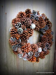 Winter Pine Cone Wreath Pinecone Wreath by TheBackyardGardener