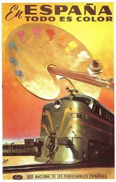 transpress nz: RENFE Spanish railway posters from the early 1960s: