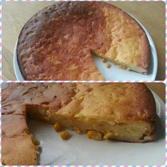 Homemade cornbread! I think I've never had it, so I don't know how it should look and taste. Hubby said it's good, so I assumed that it's really tasty XD