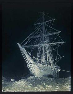 Frank Hurley The Long, Long Night Photograph negative. Shakelton  Expedition. Antarctic