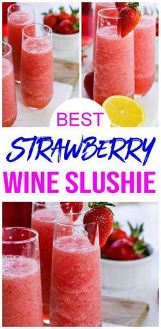 Easy Wine Slushie – How To Make Quick and Healthy Strawberry Alcohol Wine Slushies Frose Recipe! Easy Wine Slushie – How To Make Quick and Healthy Strawberry Alcohol Wine Slushies,KimspiredDIY Wine Slushie. Cocktails Vin, Cocktail Drinks, Easy Alcoholic Drinks, Yummy Drinks, Best Drinks, Brunch Drinks, Wine Drinks, Frose Rezept, Wine Slushie Recipe