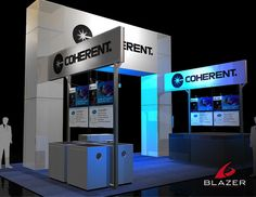 Coherent Booth Design by Blazer Exhibits & Events #tradeshowbooth #tradeshow #design