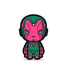 Vision could kill any of easily. Except Scarlet Witch, of course. Chibi Marvel, Marvel Art, Marvel Dc Comics, Avengers Cartoon, Marvel Funny, Marvel Avengers, Marvel Comic Character, Comic Book Characters, Marvel Characters