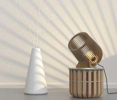 Ray Cannon wooden Floor Lamp