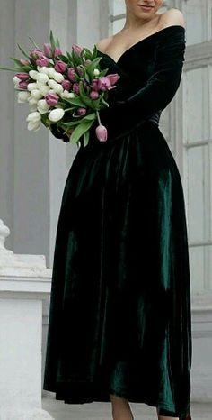 Bridesmaid velvet dress winter