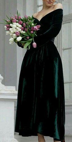 Bridesmaid velvet dress winter
