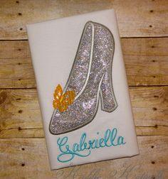 Cinderella's Glass Slipper Applique shirt