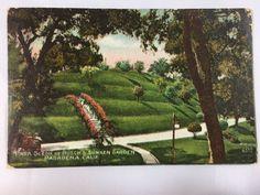 Early 1900s Park Scene at Busch's Sunken Gardens, Pasadena, CA postcard unposted