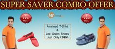 Exciting combo offer on HyTrend | Buy Amstead t-shirt and Lee Graim loafers in just Rs.999.. -- http://hytrend.com/sale.html