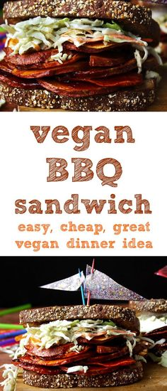 this vegan bbq sandwich is perfect for an easy weeknight vegan dinner.