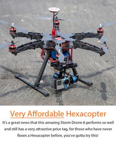 Made for Professional Aerial Filming, small enough for carrying around. Presenting the portable Storm Drone 6 GPS Flying Platform w& NAZA Lite GPS in Ready to Fly Package Love those beautiful aerial footage taken with Mu Electronics Storage, Electronics Gadgets, Electronics Projects, Drones, Drone Quadcopter, Aerial Filming, Remote Control Drone, Drone Technology, Gps Navigation