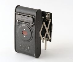 Kodak vest pocket autographic 127 camera with leather case box