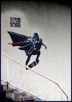 Darth Vader skateboarding  by ~blouharthur