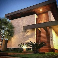 20 Best of Minimalist House Designs [Simple, Unique, and Modern] - Facade Architecture, Residential Architecture, Facade Design, Exterior Design, Exterior Tradicional, Modern Villa Design, Minimalist House Design, Modern Mansion, Dream House Exterior