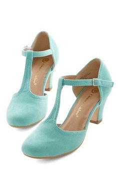 Hep in Your Step Heel in Aqua, #ModCloth