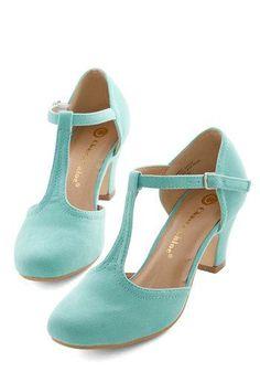 Hep in Your Step Heel in Aqua, #ModCloth