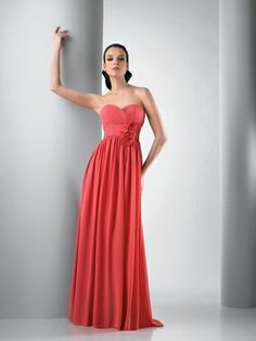 40bed39bb5486 Bari Jay style 103 is a Strapless sweetheart Chiffon gown with fabric motif  flowers on the