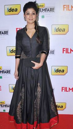 Shravan Kumar showcases his designs at South Indian International Movie Awards (SIIMA) Dubai - Nayanthara India Fashion, Royal Fashion, Ethnic Fashion, Indian Attire, Indian Wear, Indian Dresses, Indian Outfits, Engagement Hairstyles, Indian Celebrities
