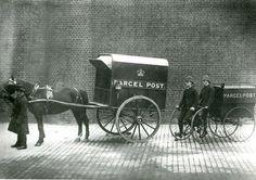 Horse-drawn mail van, 1887.