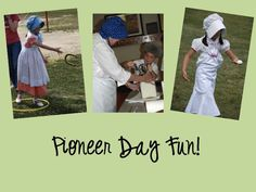 Pioneer Day ideas. My favorite was the short list of books to read, and the comparison activity about the prairie vs the sea.