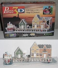 wrebbit 3d puzzle Fisherman's Cove w/ 169 pcs
